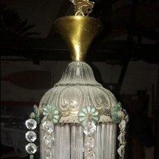 Antigüedades: LAMPARA CRISTAL. Lote 72662611