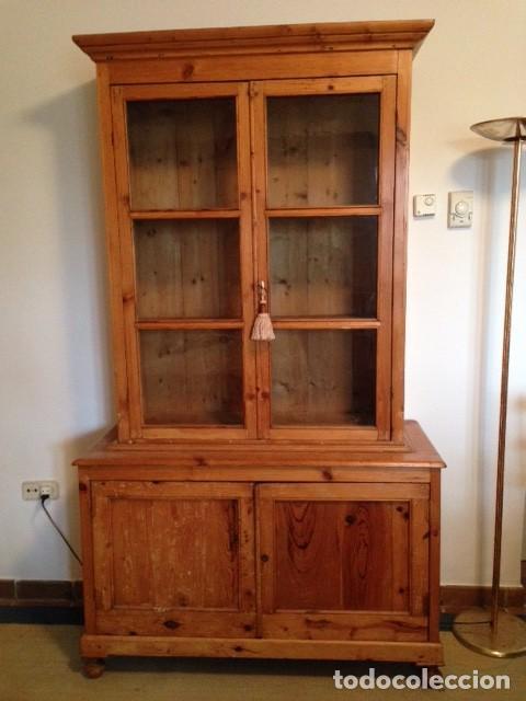 Armario Vitrina Antigua : Alacena menorquina de pino antigua restaurada comprar