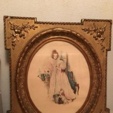 Antigüedades: MARCO DE MADERA CON PAN DE ORO. Lote 68957473