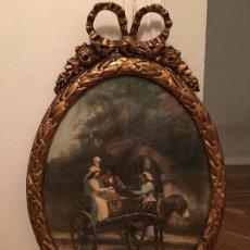 Antigüedades: MARCO DE MADERA CON PAN DE ORO. Lote 68957477