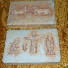 Antigüedades: DOS MOLDES ANTIGUOS PARA REALIZAR FIGURAS DE PESEBRE. Lote 68972461