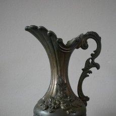 Antigüedades: JARRON METALICO DE ZINC 95% - PELTRATO - HOLANDA - ADORNOS FLORALES. Lote 68979781
