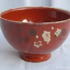 Antigüedades: ANTIGUO BOL CUENCO DE CERÁMICA.. Lote 69002957