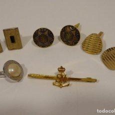 Antigüedades: LOTE DE GEMELOS Y PASADOR - AÑOS 50. Lote 69007385