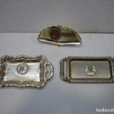 Antigüedades: LOTE DE PLATITOS Y BANDEJITA METAL CON BAÑO DE PLATEADO. Lote 69036209