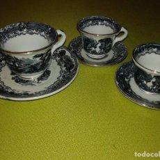 Antigüedades: TAZAS DE CAFÉ DE PORCELANA CARTUJA PICKMAN. Lote 69052209