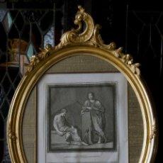 Antigüedades: GRABADO ITALIANO DEL XIX EN CORNUCOPIA. Lote 69073577