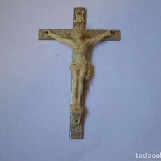 Antigüedades: CRUZ CRUCIFIJO CON CRISTO , VERR. Lote 71455135