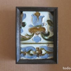 Antigüedades: AZULEJO DE CUERDA SECA MUDEJAR. Lote 69086181