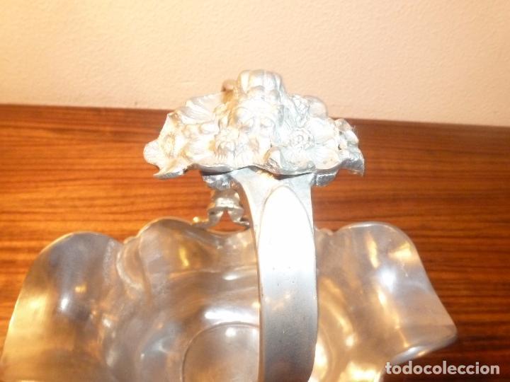 Antigüedades: cesta de estaño - Foto 8 - 69089621