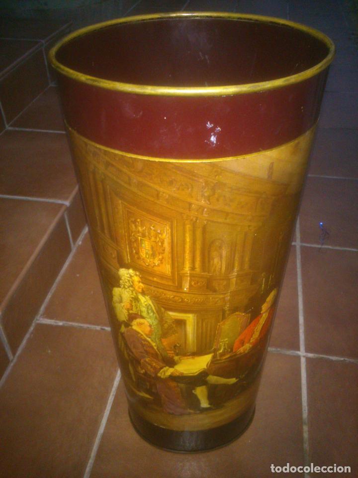ANTIGUO BASTONERO PARAGÜERO (Antigüedades - Muebles Antiguos - Revisteros Antiguos)