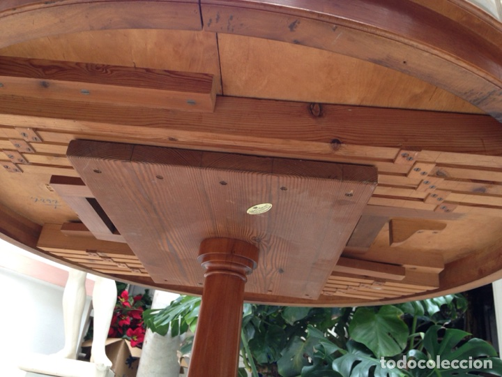 Antigüedades: Mesa redonda de pino del principio del siglo XX - Foto 6 - 69214197