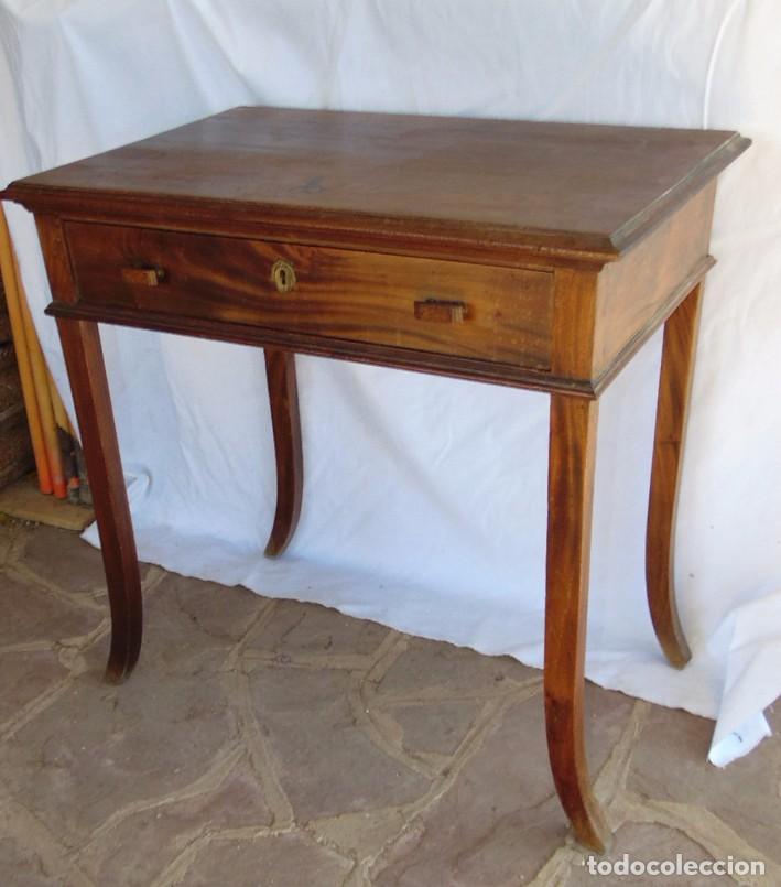 Antigüedades: mesa Art Nouveau de nogal - Foto 3 - 69268169