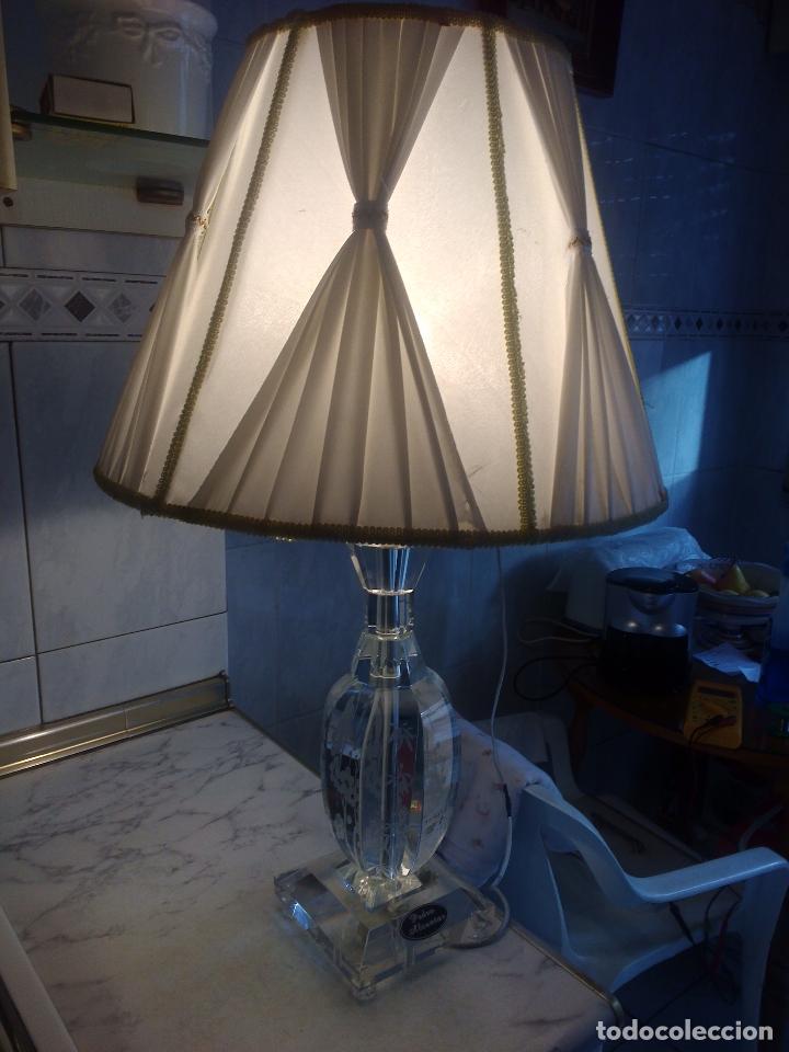LÁMPARA DE CRISTAL.65 CM ALTA.(PEDRO ALCÁNTARA)HOLANDA. (Antigüedades - Iluminación - Lámparas Antiguas)