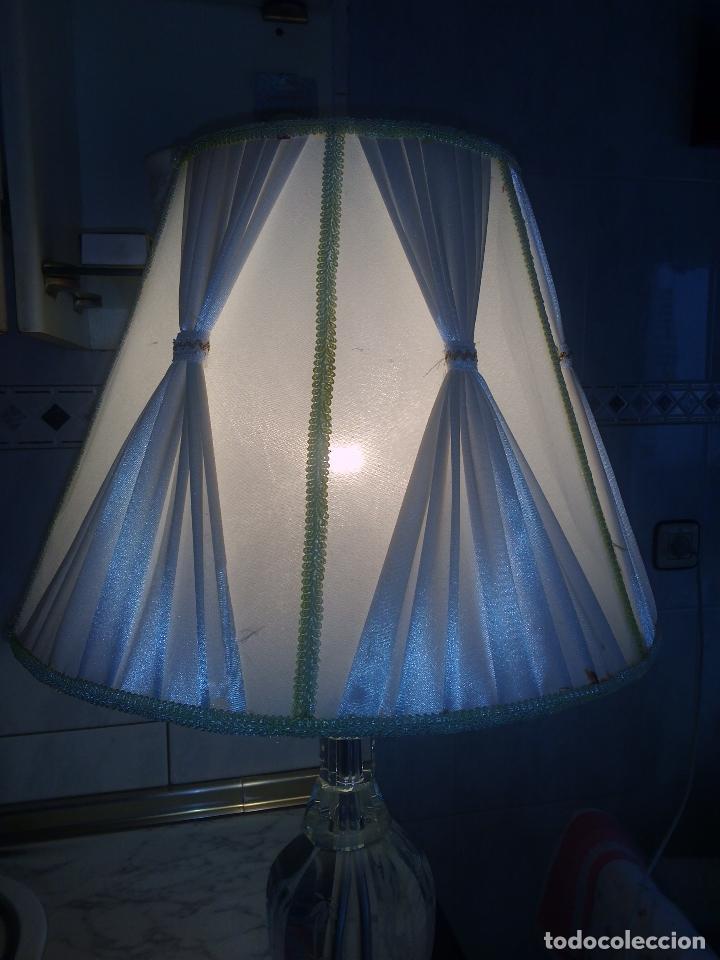 Antigüedades: Lámpara de cristal.65 cm alta.(Pedro Alcántara)Holanda. - Foto 3 - 69271493