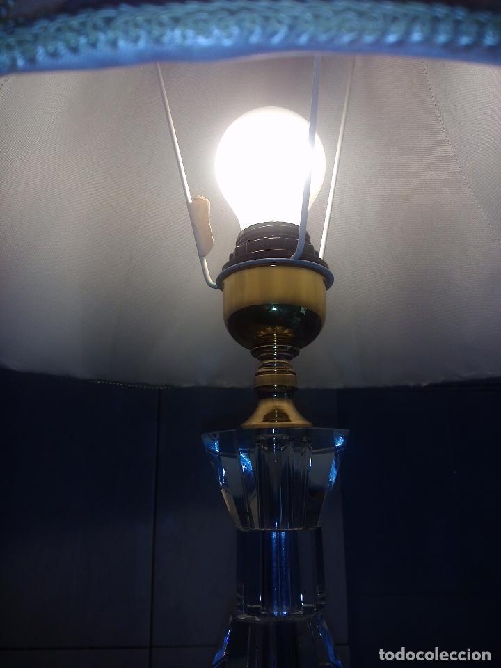 Antigüedades: Lámpara de cristal.65 cm alta.(Pedro Alcántara)Holanda. - Foto 5 - 69271493