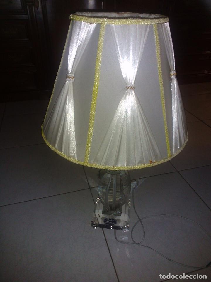 Antigüedades: Lámpara de cristal.65 cm alta.(Pedro Alcántara)Holanda. - Foto 6 - 69271493
