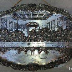 Antigüedades: BANDEJAS ANTIGÜAS DE LA ÚLTIMA CENA DE DA VINCI Y RUBENS.. Lote 69286549