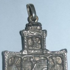 Antigüedades: ANTIGUA CRUZ ESTILO BIZANTINO, ÉPOCA ORTODOXA EN METAL PLATEADO . Lote 69286625