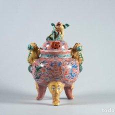 Antigüedades: INCENSARIO CHINO PORCELANA. Lote 69355133