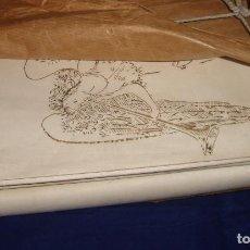 Antigüedades: TELA ANTIGUA PARA ALMOHADA ANGELINAS 00 VIUDA DE JOSE TOLRA 100/100 ALGODÓN 22M.. Lote 69359125