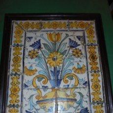 Antigüedades: (M) ANTIGUO PLAFON FLORERO CON SU CENEFA CATALAN S. XVIII - TODO ORIGINAL DE LA EPOCA , . Lote 69360493