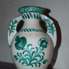Antigüedades: JARRON O CANTARO LOS ARRAYANES GRANADA - VERDE SOBRE BLANCO - ESTILO ARABE. Lote 69370745