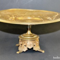 Antigüedades: TAZA EN BRONCE FIRMADO A.CAIN SIGLO XIX. Lote 69372581