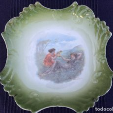 Antigüedades: PLATO EN PORCELANA DE LIMOGES SIGLO XIX. Lote 69405101