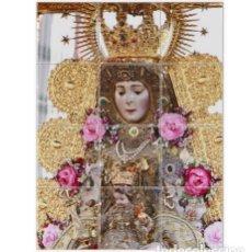 Antigüedades: PRECIOSO RETABLO DE 12 AZULEJOS 15X15CTM DE LA VIRGEN DEL ROCIO. Lote 69410333