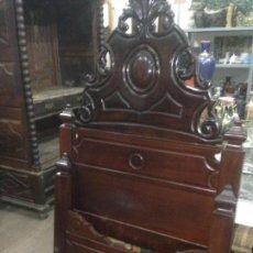 Antiquités: CAMA ISABELINA DE CAOBA. 90 CM. Lote 69430433