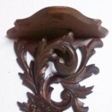 Antigüedades: ESTANTE TALLADO EN MADERA. Lote 69501577