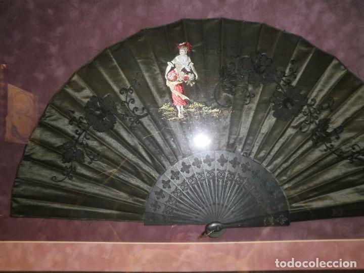 Antigüedades: ABANICO DE SEDA BORDADO A MANO - Foto 2 - 69525065