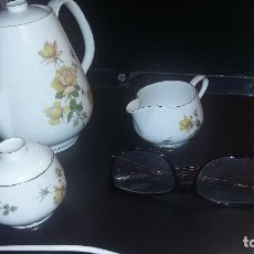 Antigüedades: PORCELANA ROSENTHAL SELB PLÖSSBERG BAVARIA GERMANY. JUEGO DE CAFETERA, LECHERA Y AZUCARERO. Lote 69554993