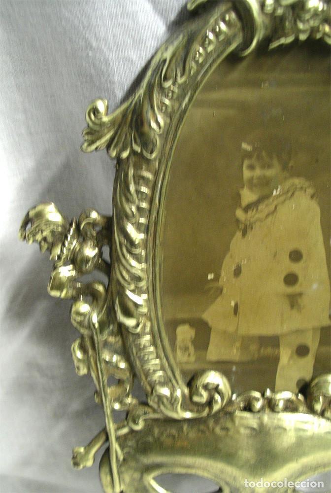 marco de bronce art nouveau años 20, máscara de - Comprar Portafotos ...