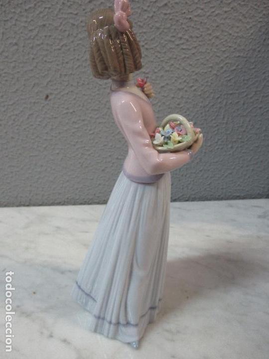 Antigüedades: Figura de Porcelana - Lladró - Aroma Primaveral - Escultor José Puche - Certificado - Caja -Nueva!!! - Foto 7 - 69582697