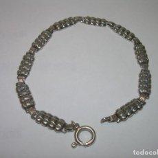 Antigüedades: ANTIGUA Y BONITA PULSERA DE PLATA DE LEY.. Lote 69617537