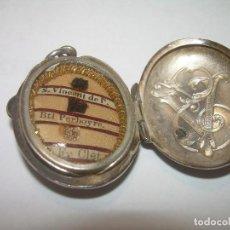 Antigüedades: ANTIGUO E IMPORTANTE RELICARIO DE PLATA....CON TRES RELIQUIAS.. Lote 69617809