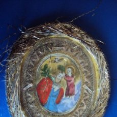 Antigüedades: (ANT-161282)ANTIGUO RELICARIO OLEO SOBRE TELA. Lote 69618853