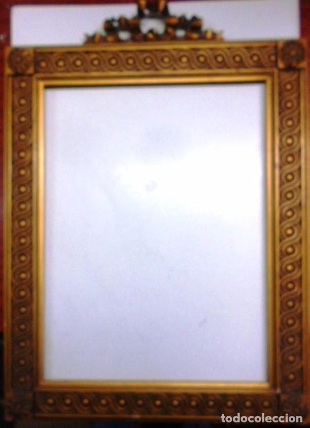 antiguo marco tallado en madera y color oro vie - Comprar Marcos ...