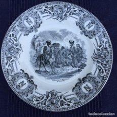 Antigüedades: PLATO SEMIPORCELANA SELLADO BOCH SIGLO XIX. Lote 69632641