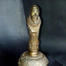 Antigüedades: ANTIGUA CAMPANA DE MANO 1,5 KG.. Lote 120105480