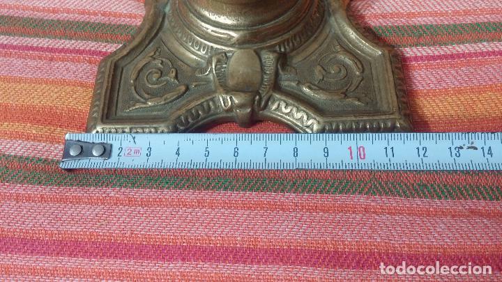 Antigüedades: Antigua escribania en bronce, con el pozo original de cerámica bien conservado - Foto 33 - 69721865