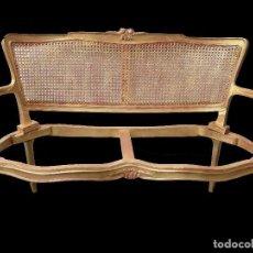 Antigüedades: PEQUEÑO SILLÓN DORADO, ESTILO ISABELINO, PRECIOSO.. Lote 69745093