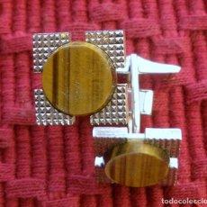 Antigüedades: GEMELOS EN PLATA CON SUS PUNZONES EN PERFECTO ESTADO.. Lote 69755089