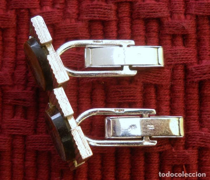 Antigüedades: Gemelos en plata con sus punzones en perfecto estado. - Foto 2 - 69755089