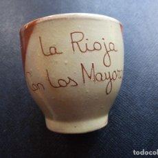 Antigüedades: VASO BARRO LA RIOJA. Lote 69799025