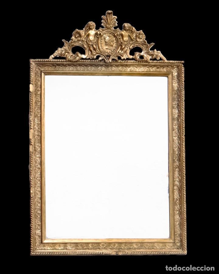 Espejo antiguo copete con angelitos precioso comprar - Espejos antiguos de pared ...