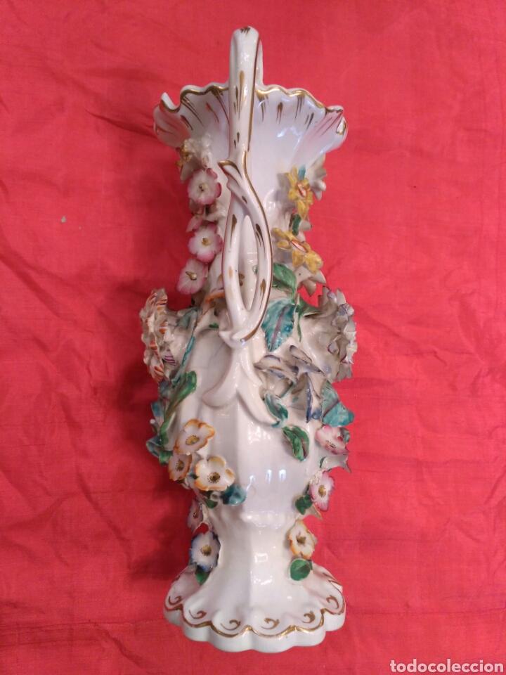 Antigüedades: Jarrones de loza vidriada del siglo XIX - Foto 7 - 57058979
