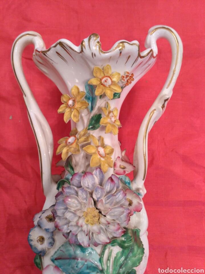Antigüedades: Jarrones de loza vidriada del siglo XIX - Foto 8 - 57058979
